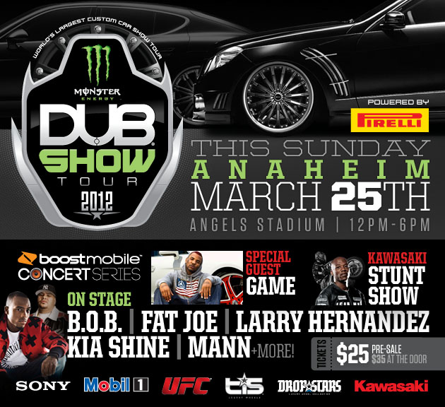 DUB Show Anaheim Recap Backseat Boogie - Angel stadium car show